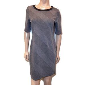 🍁 REITMANS Striped Knit Short Sleeve Sheath Dress